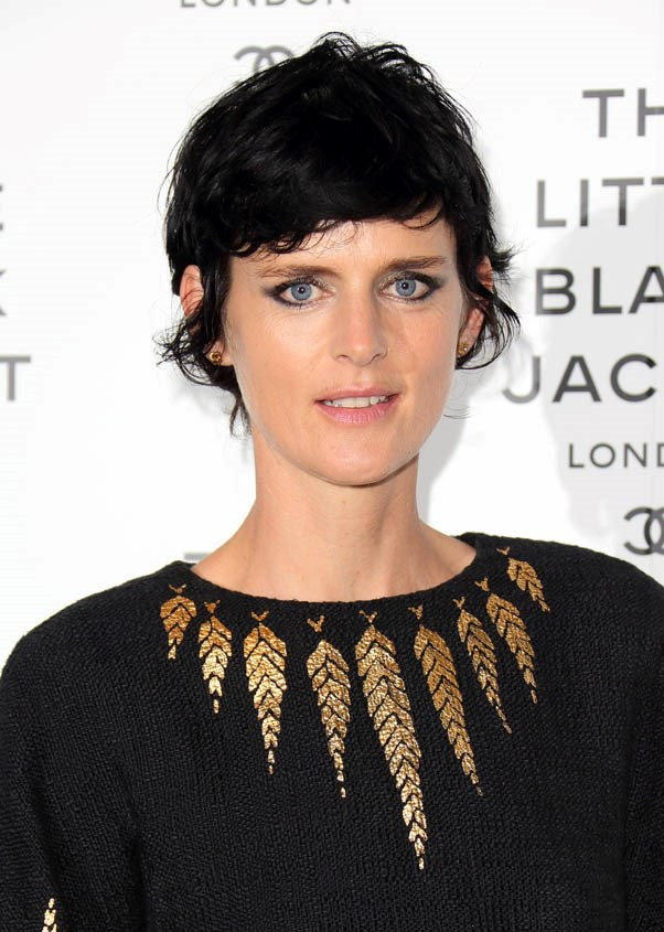 <strong>Stella Tennant</strong> <br><br>The 90's model and longtime muse of Karl Lagerfeld, Tennant's reemergence into the modelling world in recent years was marked with a jet-black new hair colour.
