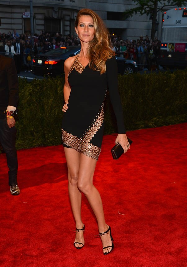 """<strong>Gisele Bündchen</strong> <br><br><strong>What she earned:</strong> $42 million <br><br><strong>How she earned it:</strong> The world's richest supermodel has still got it. She recently became the face of H&M, Chanel and  David Yurman. Bündchen is also queen of endorsements, lending her name (and face) to brands like the successful Ipanema flip-flops. <br><br><em>Pictured here at """"PUNK: Chaos to Couture"""" Costume Institute Gala wearing Anthony Vacarello .</em>"""
