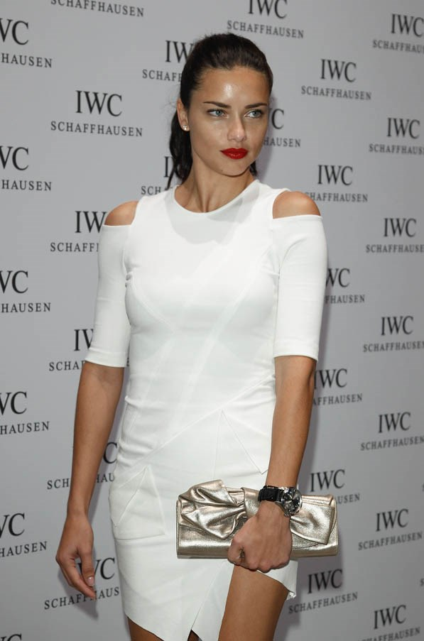 Staying sleek at the 'IWC Top Gun Gala Event' at 22nd SIHH High Jewellery Fair, wearing a Roland Mouret white mini dress.