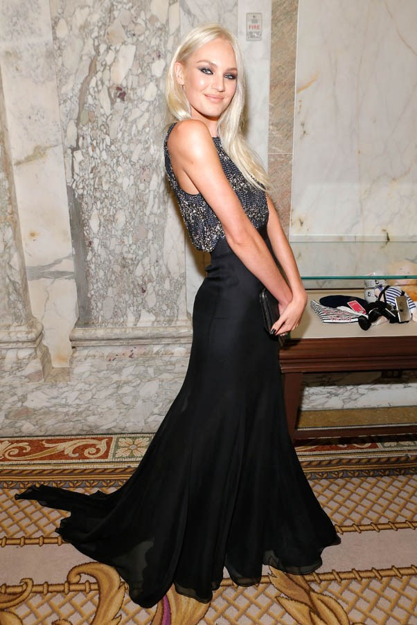 <strong>Candice Swanepoel</strong> <br><br><strong>What she earned:</strong> $3.3 million <br><br><strong>How she earned it: </strong>Swanepoel is one of Victoria's Secret's most active Angels, and has also worked with Juicy Couture, Max Factor and Versace. <br><br><em>Pictured here at the 4th Annual amfAR Inspiration Gala New York, wearing a custom made Theyskens' Theory gown . </em>