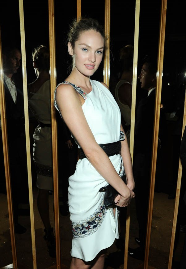 Pictured here at the 2013 CFDA Fashion Awards Hosted By Swarovski official after party, wearing Prabal Gurung.
