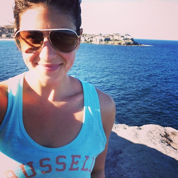 """<strong>Stephanie Rice</strong> <br>Olympian swimmer turned <em>Today </em>show health and fitness reporter <br><br>""""Lunch may be three peaches and six nuts. I only eat almonds, walnuts or pine nuts — they aren't as high in saturated fats as others. I'll usually have one coffee on busy days when I need it — a long black with a dash of soy. I can't process dairy; it makes me feel sick. About 3.30pm, I'll have three mangoes and a handful of grapes. <br><br>""""Then for dinner at 7pm, I eat a family-sized bowl of salad: baby spinach, capsicum, cucumber and maybe I'll throw in some sunflower seeds and different fruit to what I've eaten that day, like two oranges. My favourite dressing is two tablespoons of oil, two tablespoons of tahini to give it a peanut-buttery flavour, a tablespoon of honey and the juice of half an orange."""" <br><br>Photo: <a href=""""http://instagram.com/itsstephrice"""">@itsstephrice</a>"""