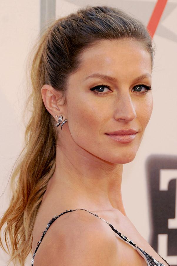 Celebrity Piercings Gisele Bundchen : Harper's BAZAAR