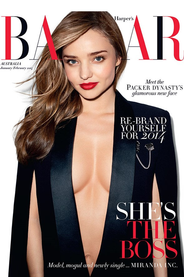 Miranda Kerr on the cover of Bazaar