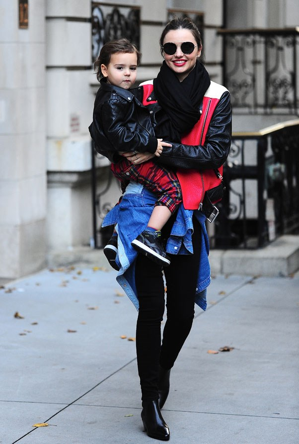 Rugged up in New York with Flynn in November 2013.