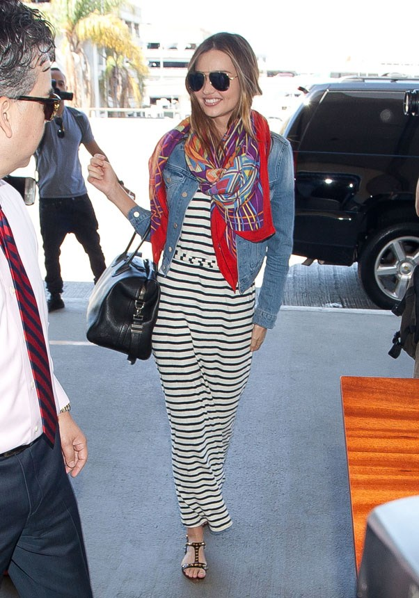 Channeling Californian style while departing from LAX in August 2013.