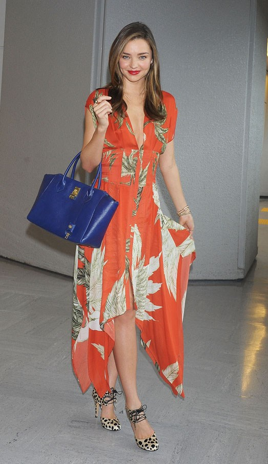 Fresh faced upon arrival at Tokyo airport in July 2013.