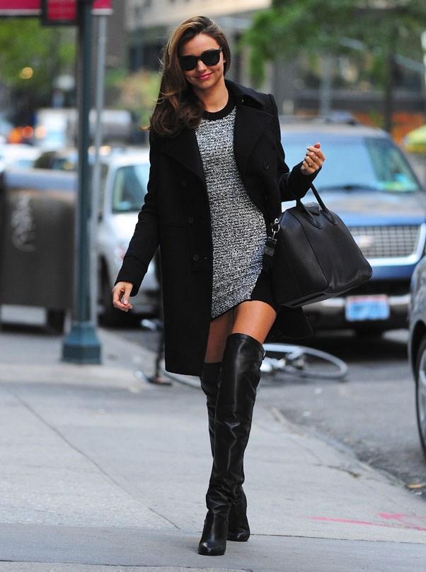 Thigh-high glamour in New York, November 2012.