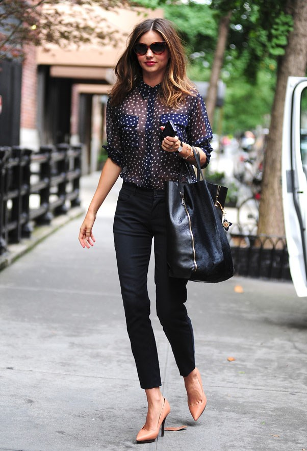 Tailored perfection in New York in June 2013.