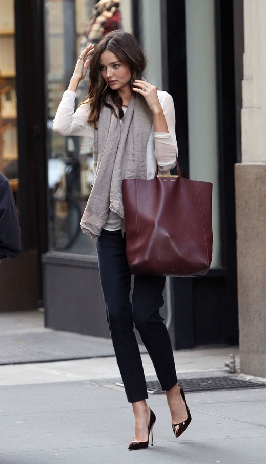 Looking polished on the street in New York, November 2011.