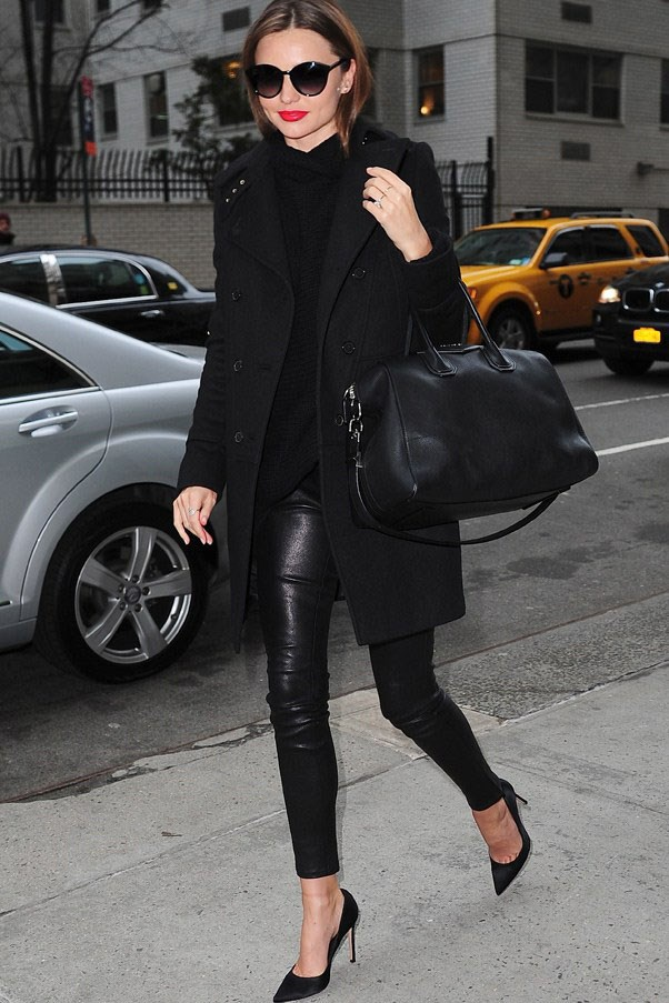 The ultimate polished winter look in New York in February 2013.