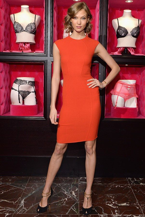 """The key, Kloss explains, is switching it up, so she does cardio one day and then strength training the next. """"It's OK to take a day or two off training, but I always try and be active at some point throughout the day,"""" she says. <br><br>""""It doesn't have to be at the gym; even if you're running around with your dog in the park, breaking into a sweat makes your body work."""" <br><br><em>Promoting a Victoria's Secret line in February.</em>"""