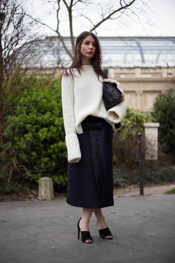 Win At Winter Street Style With A Monochrome Look Harper 39 S Bazaar