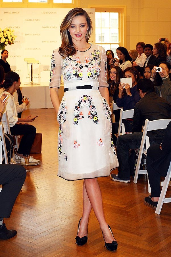 Perfectly polished in an Erdem dress, at a David Jones event in Sydney on 20 May.
