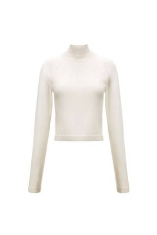 WHISTLES Ella Cropped Turtle Neck Knit