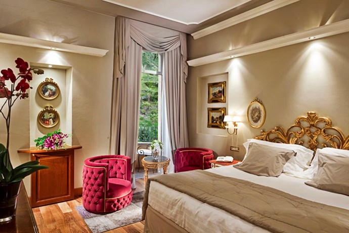 """<strong><a href=""""http://www.grandhoteltremezzo.com"""">Grand Hotel Tremezzo</a>, Lake Como</strong> <br><br>Of course, if you're feeling the need for a little passeggiata, then the hotel's chatelaine, Valentina de Santis, will be happy to arrange a trip to the nearby historical Villa del Balbianello (well worth a visit) and a table at Il Gatto Nero (The Black Cat) where Signor Clooney is a regular ... not that we'd go there just for that, of course. <br><em>- Jamie Huckbody</em> <br><br><a href=""""http://www.grandhoteltremezzo.com/"""">grandhoteltremezzo.com</a>"""