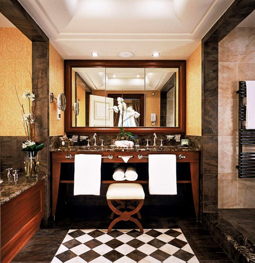 """<strong><a href=""""http://www.lhw.com/hotel/Hotel-Metropole-Monte-Carlo-Monte-Carlo-Monaco"""">Hotel Metropole</a>, Monte-Carlo</strong> <br><br>Its three restaurants are managed by esteemed chef Joël Robuchon, while Lagerfeld's handiwork in the pool area is an amazing fresco-style installation portraying the story of Ulysses.  Lagerfeld also designed a light constellation for the pool, so when the sun sets, it's hard to beat as aspot in which to sip a cocktail, enjoy the DJ and a Robuchon canapé, and rub shoulders with Monaco jetsetters. <br><em>- Eugenie Kelly</em> <br><br><a href=""""http://www.lhw.com/hotel/Hotel-Metropole-Monte-Carlo-Monte-Carlo-Monaco"""">lhw.com/Metropole</a>"""