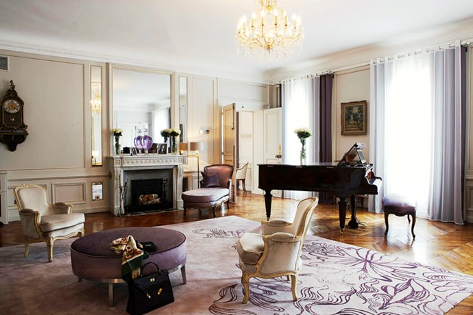 """<strong><a href=""""http://www.hotel-lancaster.com/uk/hotel-5-etoiles-champs-elysees-site-officiel.php"""">Hôtel Lancaster</a>, Paris</strong> <br><br>Check in at the Lancaster and you'll find yourself a stone's throw of the Espace Culturel Louis Vuitton on the Champs-Élysées and the Céline boutique on Avenue Montaigne. And after a day of frock-watching, this tranquil haven delivers just what you need: respite from the biannual fashion circus and an actual meal. <br><br>The Lancaster's freshly renovated inner courtyard is planted with flora from five different continents, while in its Michelin-starred restaurant, La Table du Lancaster, chef Julien Roucheteau takes you on agastronomic stroll through seasonal French fare. Bliss. <br><em>– Jamie Huckbody</em> <br><br><a href=""""http://www.hotel-lancaster.com/uk/hotel-5-etoiles-champs-elysees-site-officiel.php"""">hotel-lancaster.com</a>"""
