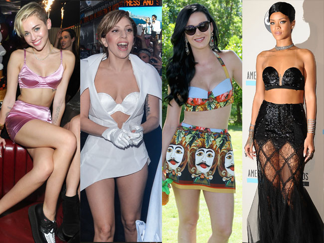 Celebs who rock bras as tops