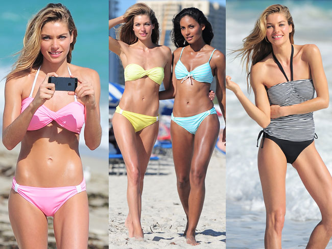Jessica Hart wows in swimwear shoot