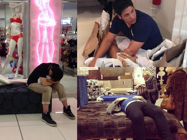 Definitive proof that men hate shopping