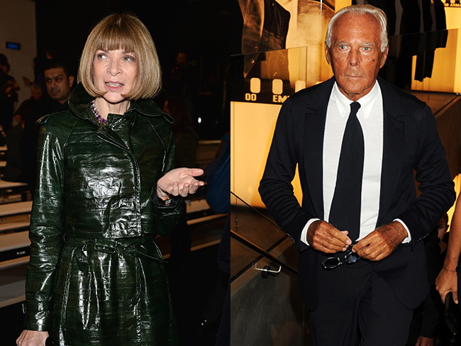 Anna Wintour dissed by Armani
