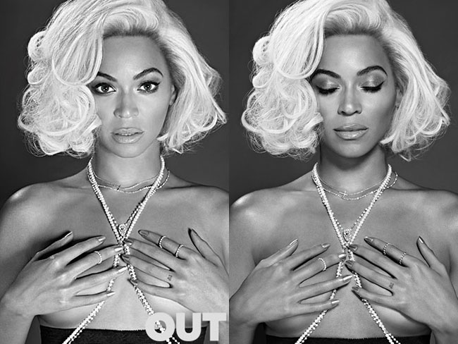 Beyoncé poses topless