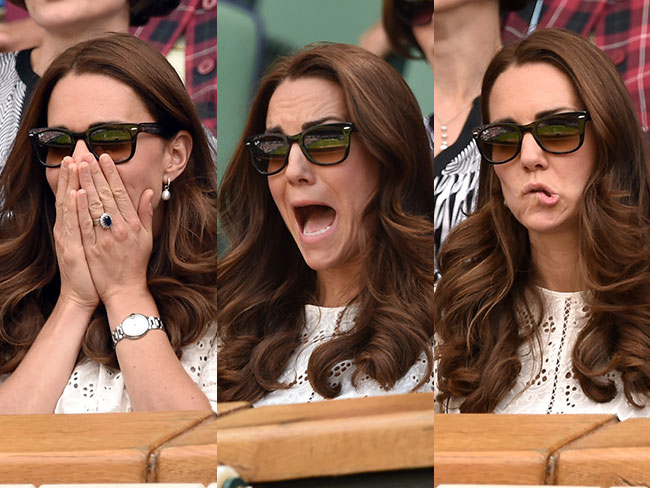 Duchess Kate's game face