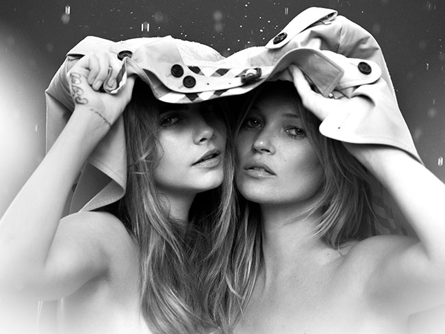 Kate and Cara for Burberry