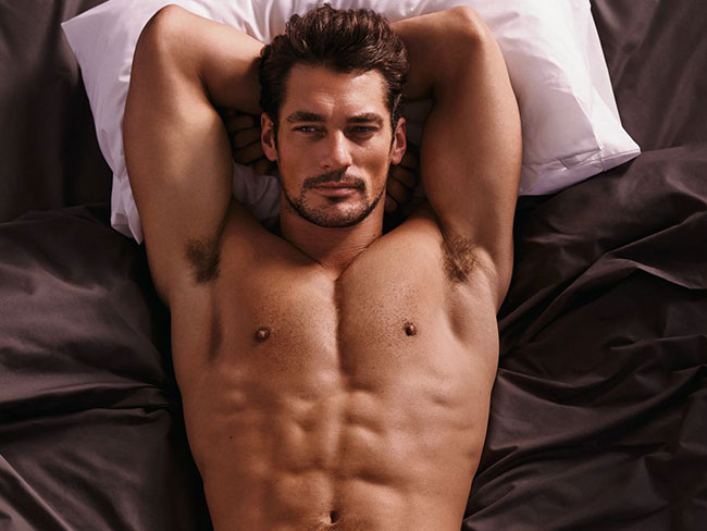 David Gandy strips off