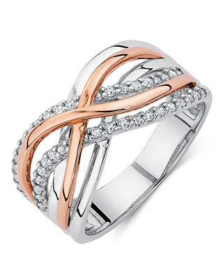 Michael Hill Crossover Ring