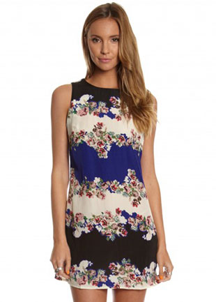 Shift Dress in Baroque Floral Print