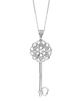 Michael Hill Diamond Key Pendant