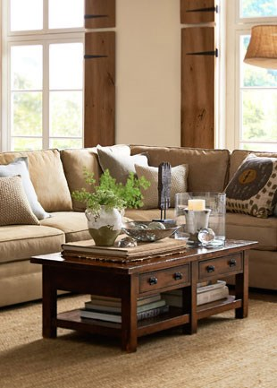 Pottery Barn Pearce Sectional in Everyday Suede