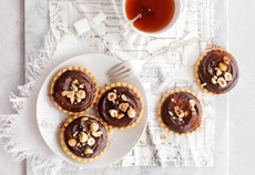 Chocolate butterscotch tartlets