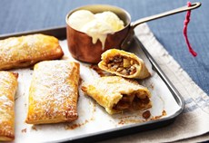Spiced apple parcels