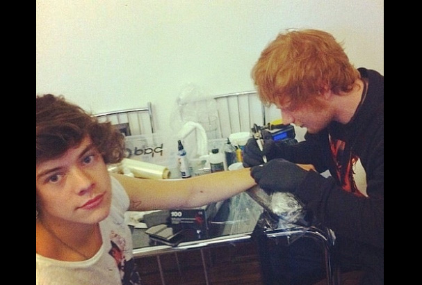 Risky business: Harry's DIY tattoo danger