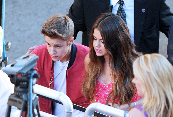 Justin and on-again-off-again GF Selena Gomez.