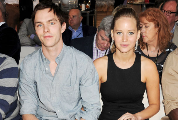Jennifer Lawrence and boyfriend Nicholas Hoult (Getty).