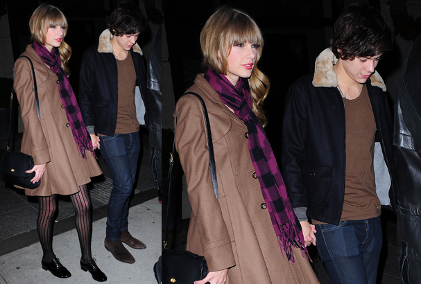 Harry and Taylor walk hand-in-hand through NYC.