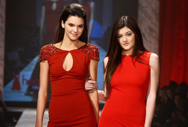 Kendall and Kylie walk The Heart Truth 2013 Fashion Show.