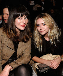 Milla Jovovich and Ashley Olsen