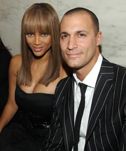 Tyra Banks and Nigel Barker
