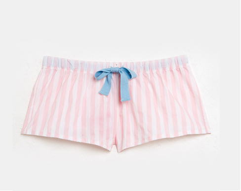 Cotton Short in Baby Pink Stripe