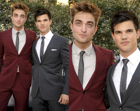 Robert Pattison and Taylor Lautner