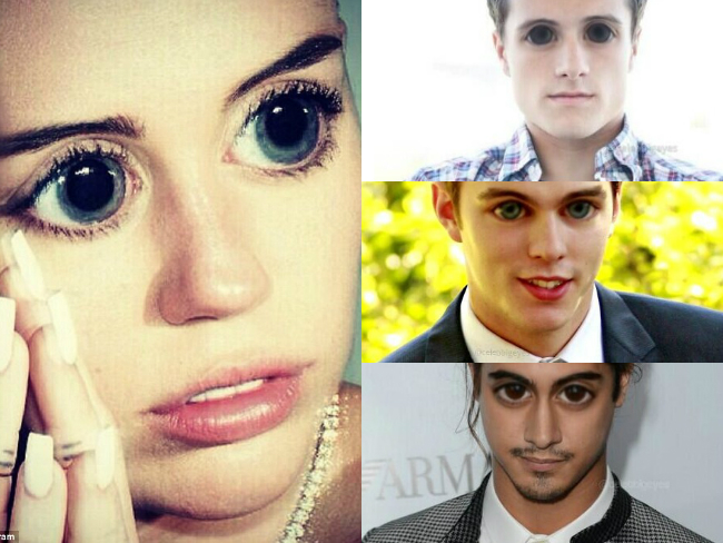 Bug-eyed celebrities