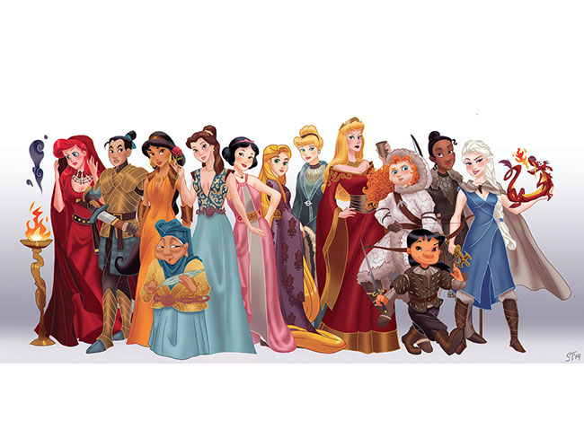If Disney Princesses were Game of Thrones characters