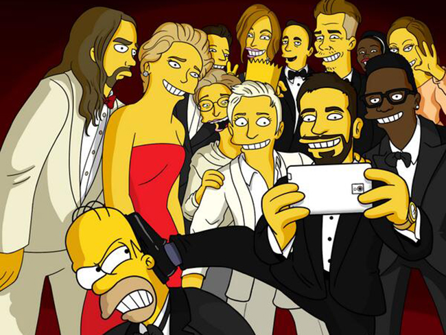 The Simpsons recreate epic Oscars selfie