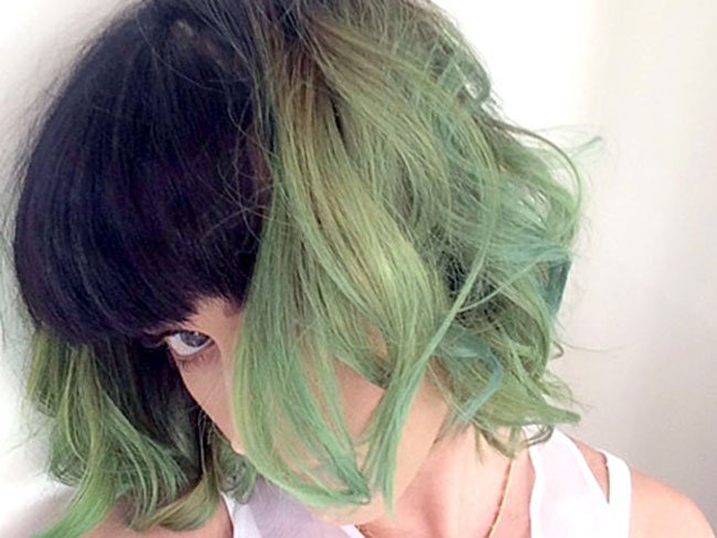 Katy Perry Debuts 'Slime' Hair