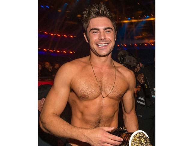 Zac Efron's Shirt Torn Off By Rita Ora